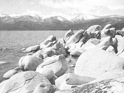 Photograph - Boulder Shore On Lake Tahoe by Frank Wilson