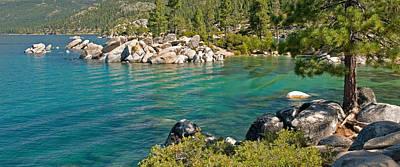 Boulders At Sand Harbor, Lake Tahoe Art Print by Panoramic Images