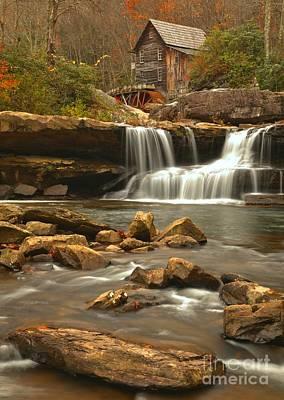 Photograph - Boulders Below Glade Creek by Adam Jewell
