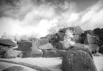 Photograph - Boulders In Infrared  by Guy Whiteley