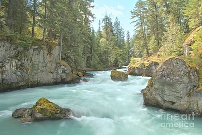 Photograph - Boulders In The Cheakamus River by Adam Jewell
