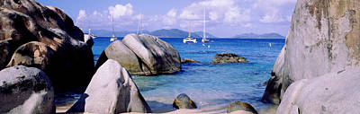Aquamarine Photograph - Boulders On A Coast, The Baths, Virgin by Panoramic Images