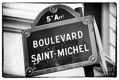 Photograph - Boulevard Saint-michel by John Rizzuto