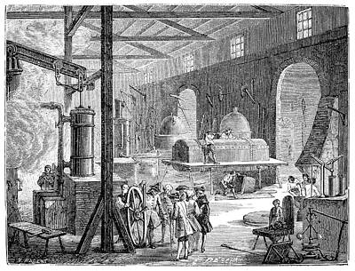 Watt Photograph - Boulton And Watt's Soho Foundry by Science Photo Library