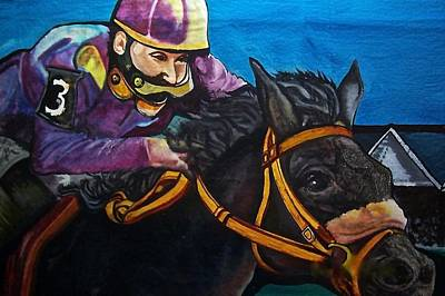 Belmont Stakes Painting - Bouncing Betty by Nelson Vargas