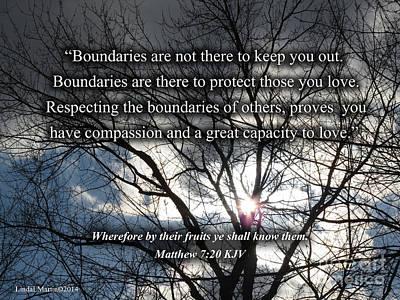 Photograph - Boundaries Of Love by Linda L Martin