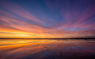 Photograph - Boundary Bay Sunset B.c by Pierre Leclerc Photography