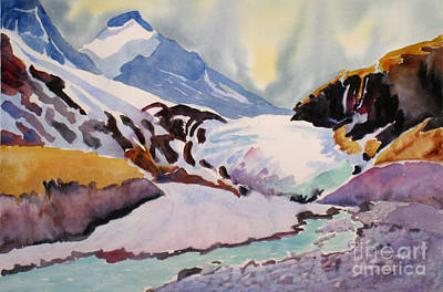 Fineartamerica.com Painting - Boundary Glacier Banff And Jasper National Park by Mohamed Hirji