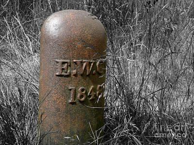 Photograph - Boundary Marker 1848 by Yvonne Johnstone