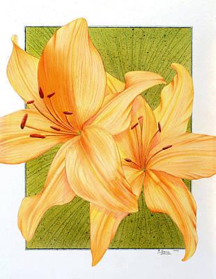 Bounding Bloom Art Print
