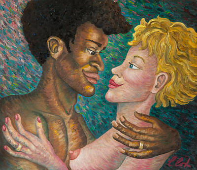 Interracial Nude Painting - Boundless by Claudia Cox