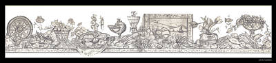 Drawing - Bounties Of The Sea by John Keaton