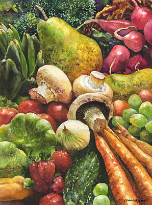 Pepper Painting - Bountiful by Anne Gifford