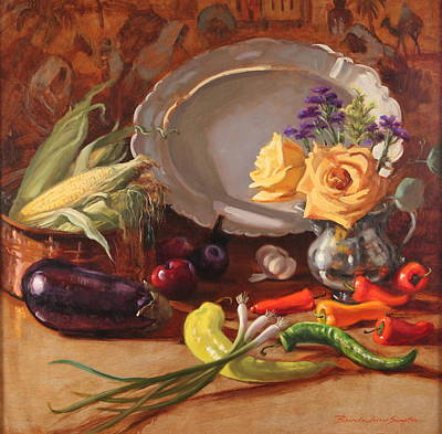 Solo Exhibition Painting - Bountiful by Brenda Sumpter