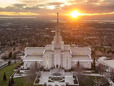 Mormon Temple Photograph - Bountiful by Emily Dickey