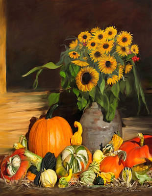 Bountiful Harvest - Floral Painting Original