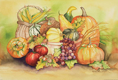 Thanksgiving Wall Art - Painting - Bountiful by Kathleen Parr Mckenna
