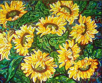Painting - Bountiful Sunflowers by Deborah Glasgow
