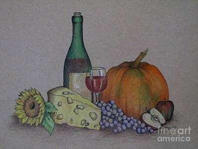 Wine Drawings - Bounty by Catherine Howley