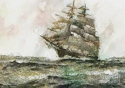 Ship Digital Art - Bounty by Dragica  Micki Fortuna