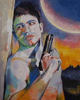 Mountain Man Painting - Bounty Hunter by Michael Creese