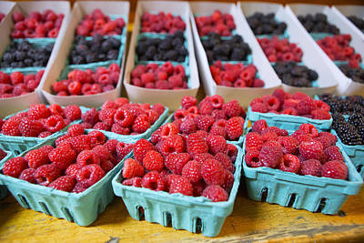 Farmstand Photograph - Bounty Of Berries by Caitlyn  Grasso