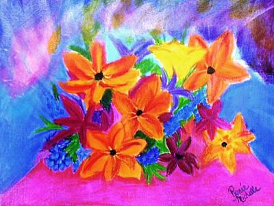 Bouquet Borealis Original by Renee Michelle Wenker