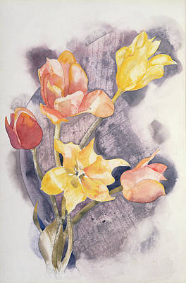 Bouquet, C.1923 Wc On Paper Print by Charles Demuth