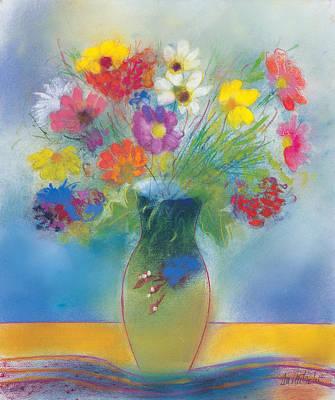 Optimistic Drawing - Bouquet De Printemps by Dan Partouche