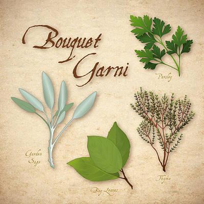 Bouquet Garni -  French Herb Blend Art Print