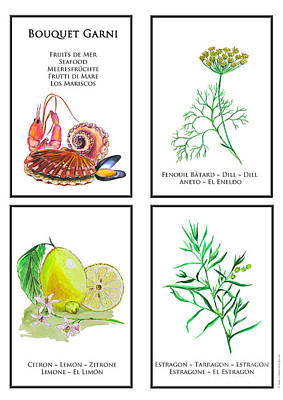 Fruits De Mer Painting - Bouquet Garni Seafood Print by Lydia Meier