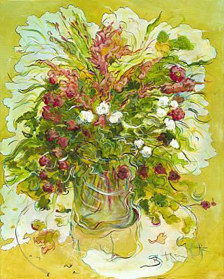 Bouquet Jaune - Original For Sale Art Print by Bernard RENOT