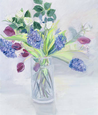 Hyacinth Painting - Bouquet  Mixed Bunch by Sophia Elliot