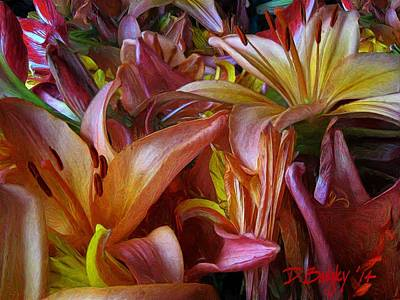 Realist Digital Art - Bouquet No. 231 by David Badgley