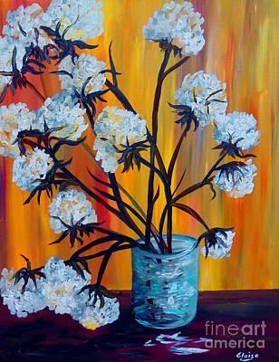 Arrangement Painting - Bouquet Of Cotton by Eloise Schneider