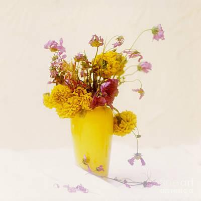 Cut Flowers Photograph - Bouquet Of Flowers by Bernard Jaubert