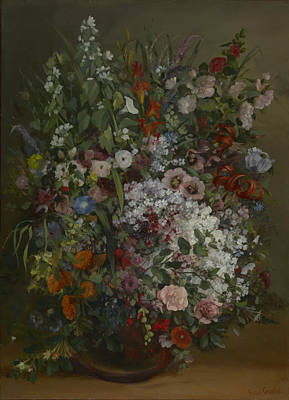Painting - Bouquet Of Flowers In A Vase by Gustave Courbet