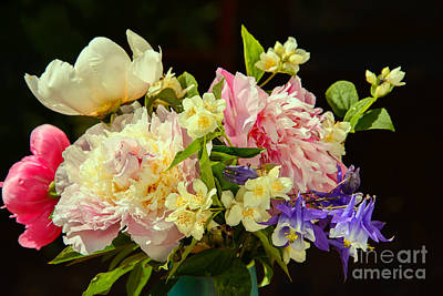 Bouquet Of Summer Flowers Art Print by Gry Thunes