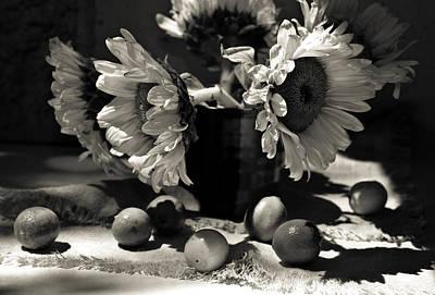 Bouquet Sunflowers Original by Sviatlana Kandybovich