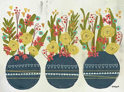 Bouquet Trio Print by Katie Doucette