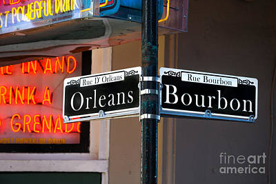 Photograph - Bourbon And Orleans by Jerry Fornarotto