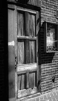 Photograph - Bourbon Door And Menu by Greg and Chrystal Mimbs