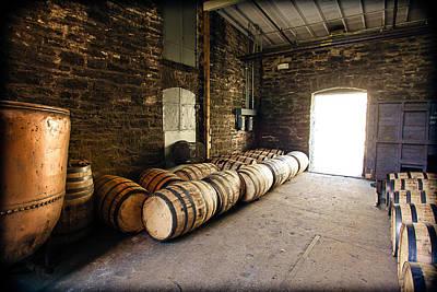 Whiskey Barrel Photograph - Bourbon Kettle Room by Karen Varnas