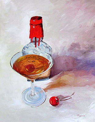 Bourbon Manhattan Art Print