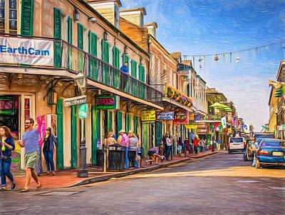 Bourbon Street Afternoon - Paint Art Print