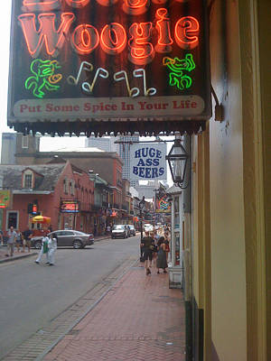 Photograph - Bourbon Street Bar Signs by Bradford Martin