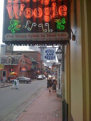 Photograph - Bourbon Street Bar Signs by Bradford Martin