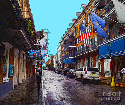 Bourbon Street Art Print by Carey Chen
