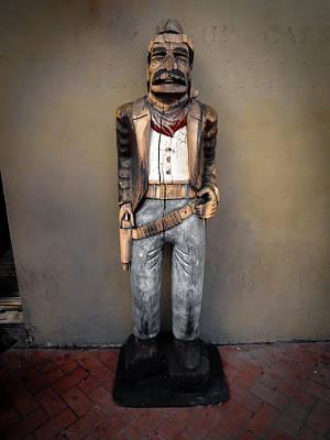 Photograph - Bourbon Street Cigar Store Cowboy by Louis Maistros