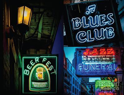 Photograph - Bourbon Street Lights 3 by Kathleen K Parker